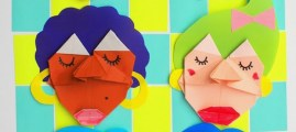 Kid Crafts: Origami Faces