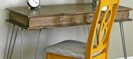 Handmade Beauty: Hairpin Leg Vanity Table with Built-In Storage