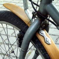 wood bike fender