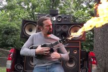 Mad Max Doof Warrior Inspired Flamethrower Ukulele