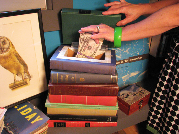 Stacked Vintage Book Stash by Matt Maranian — via Make: