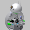 A 3D rendering of Casey's BB-8 design.