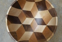 See it Made: Wooden 3D Cube Illusion Bowl