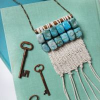 Make a Pretty Woven Necklace with Beadwork