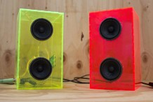 Laser Cut New Enclosures for Desktop Speakers