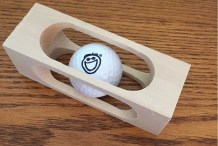 Build This Brain-Teasing Golf Ball in a Block of Wood