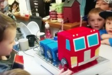Watch: Optimus Prime Birthday Cake Actually Transforms