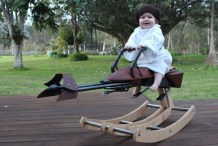 Baby Princess Leia Rocks This Mini Star Wars Speeder Bike