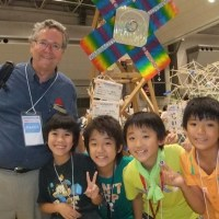 My picture with a group of kids including Yuki  Mizuno (photo by Hitomi Mizuno).