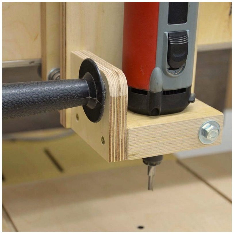 Clever homemade 3d router table make for Making a router table