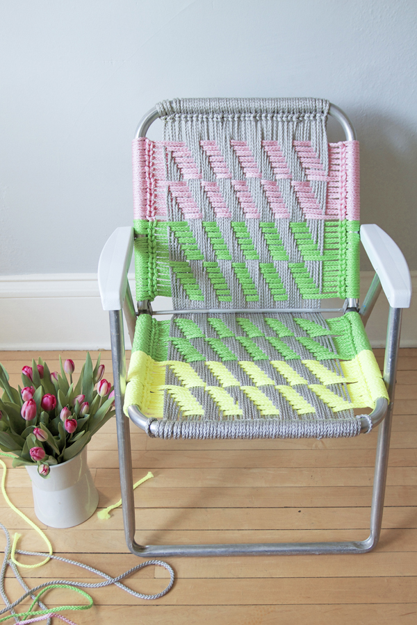 Revive Ratty Lawn Chairs With Comfy Macrame Make