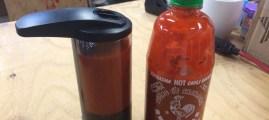 The Easiest Hands-Free Sriracha Dispenser Ever