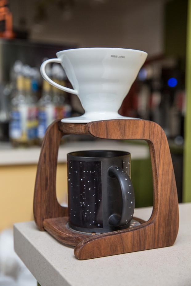 Cnc Drip Coffee Stand For Hairo Ceramic Cone