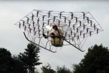 Man Builds Crazed 54-rotor Flying Vehicle