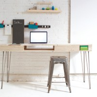 Homemade Modern Flip Desk