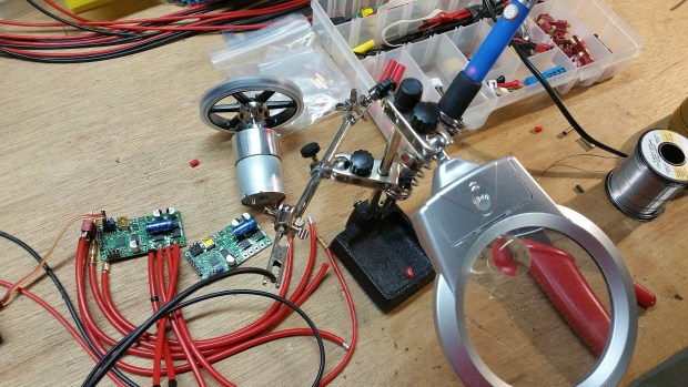 Wiring up the Dome Motivator with the Pololu motor controller.