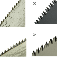 Figure 7. Saw teeth look surprisingly different in closeup, and the differences are important.