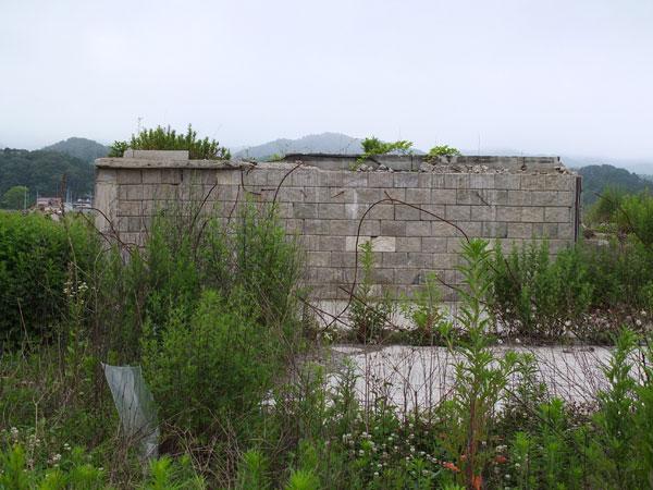 船の前の外壁