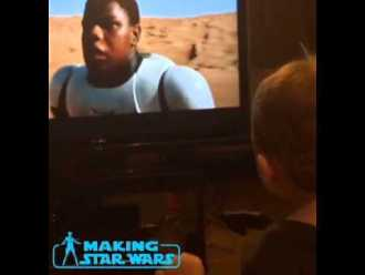 My one year old's reaction to John Boyega popping up in the Star Wars: The Force Awakens teaser!