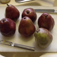 red pears to begin