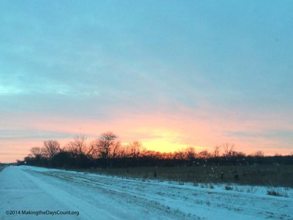 Saturday morning's sunrise....