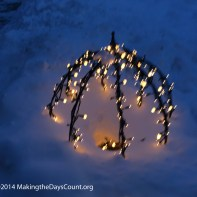 lights buried under the snow