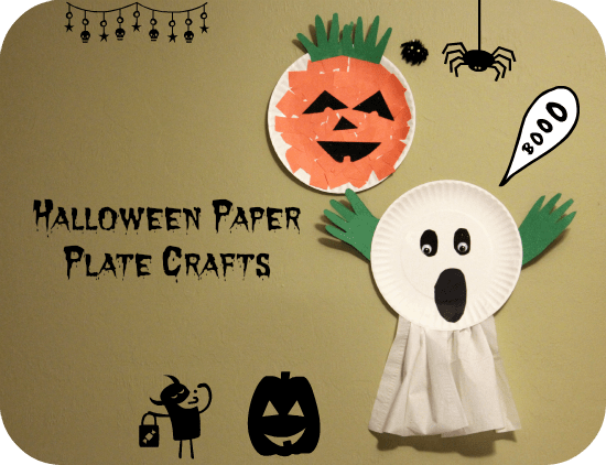 Paper plate ghost halloween craft for preschoolers for Halloween party games for preschoolers