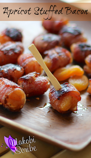 Apricot wrapped bacon pinterest