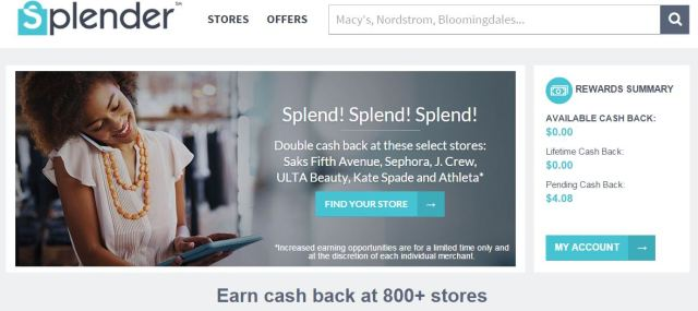 shopping online with splender