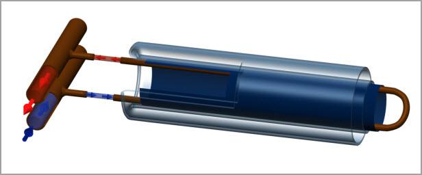 U-образная трубка солнечного коллектора