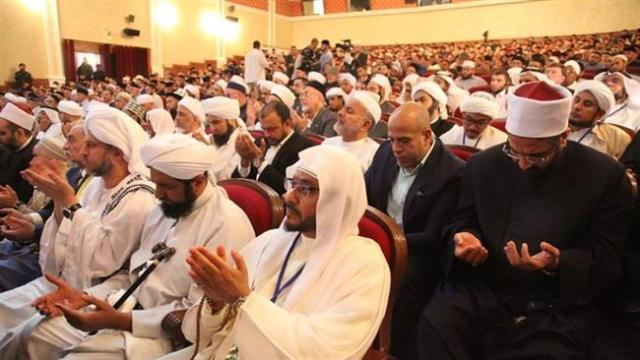 Sunni scholars attending the conference in Grozny, Chechnya