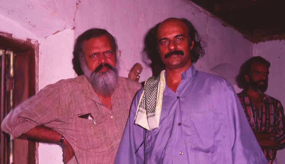G-Aravindan-visits-Bharat-Gopy-Sets-of-Ulsavapittennu