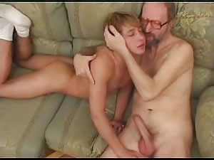 hot blonde milf kissing handjob