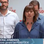 "Armengol destaca que el PSIB ha ""aguantado"" dos diputados"