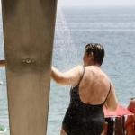 Las duchas de la playa de Palma cerradas