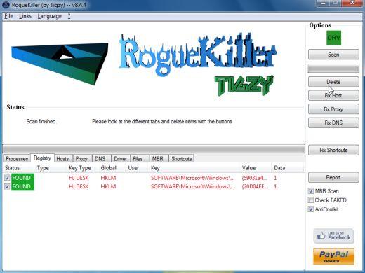 [Image: RogueKiller Detele button]