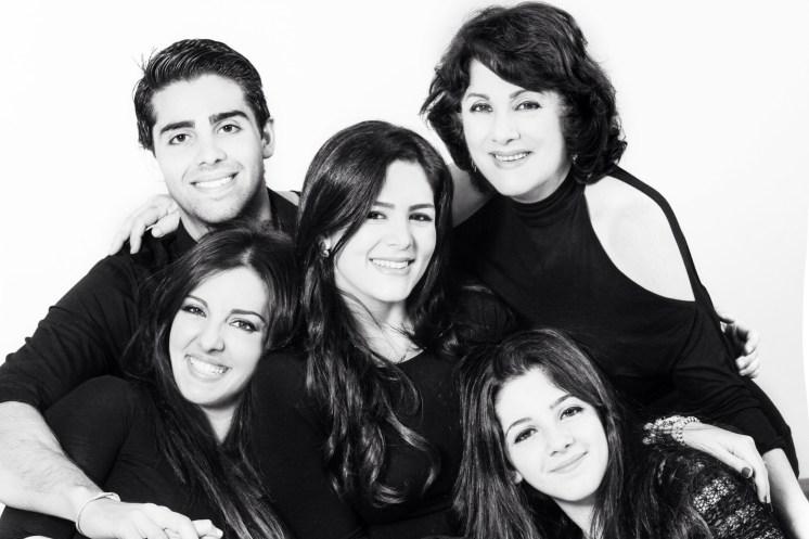 Samar Yorde con su familia.