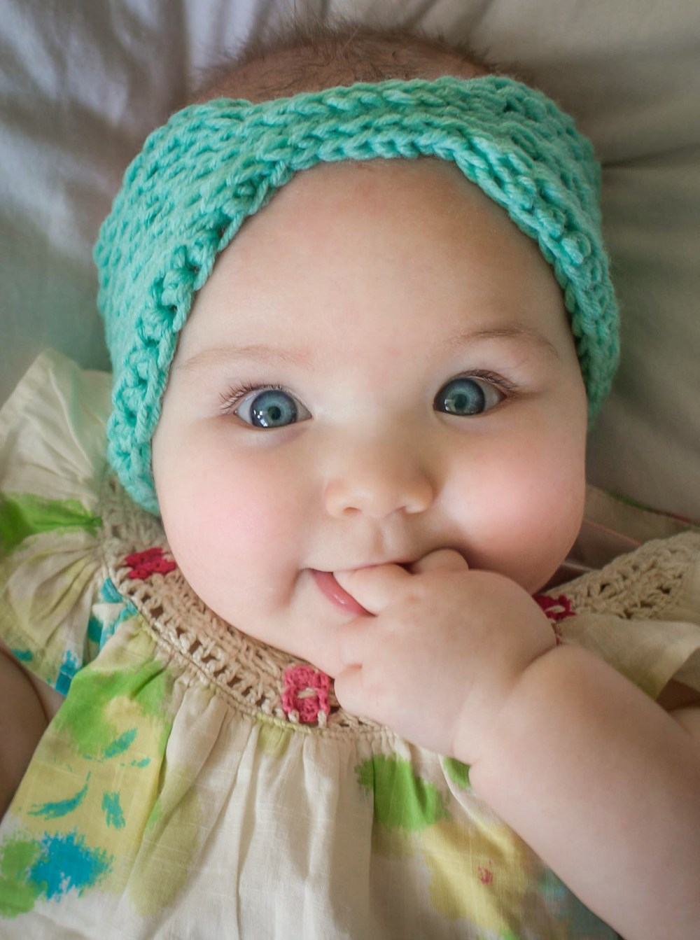 Crochet Patterns For Baby Beanies With Flowers : Free Head Wrap Crochet Patternmamachee