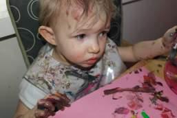 Very messy toddler!