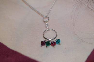 My birthstone necklace