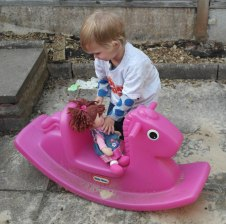 Time to ride the horsey