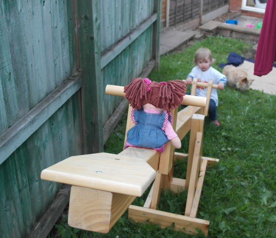 Georgie & Loddy on the seesaw
