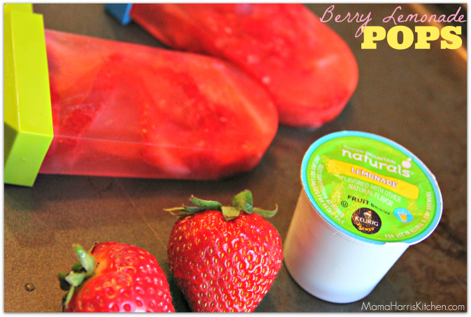 Berry Lemonade Pops with best k cup flavors