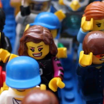 Lego Figur Makro Nahaufnahme