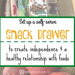 Teach your kids independence and how to eat healthy, listen to their bodies and develop healthy eating habits by creating a snack drawer.