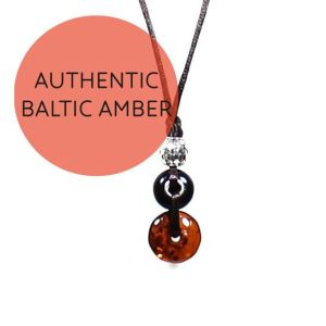 Amber teething fiddle necklace Cherry 7 - Baltic amber necklace for teething baby pendant Cherry
