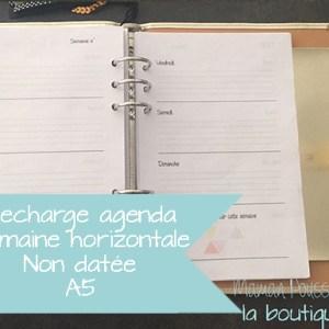 recharge agenda semaine horizontale non datée-vignette