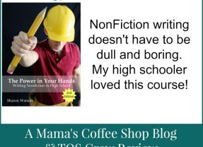 {Product Review} Writing NonFiction in High School from Writing with Sharon Watson
