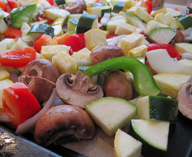 Diced Fresh Vegetables