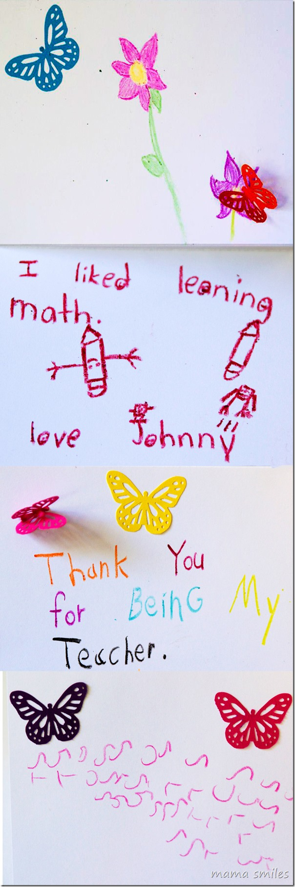 Popular Kids To Make Teacher Thank You Cards Teacher Thank You Cards Teachers Pinterest Thank You Cards Kids To Make Mama Smiles Thank You Cards Teachers To Make